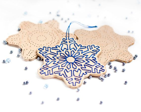 Snowflake wooden Christmas ornament Make Your Own Holidays Christmas decoration