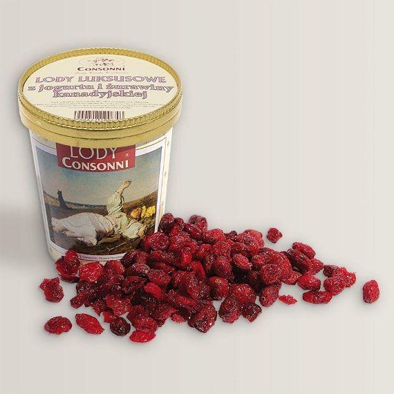 Lody luksusowe z jogurtu i żurawiny kanadyjskiej Kwaskowo – słodkawy smak jogurtu połączony z kremową konsystencją wynika z procesu fermentacji przy udziale bakterii probiotycznych.