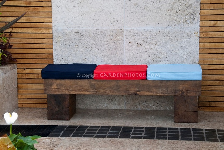 how to make a bench from railway sleepers