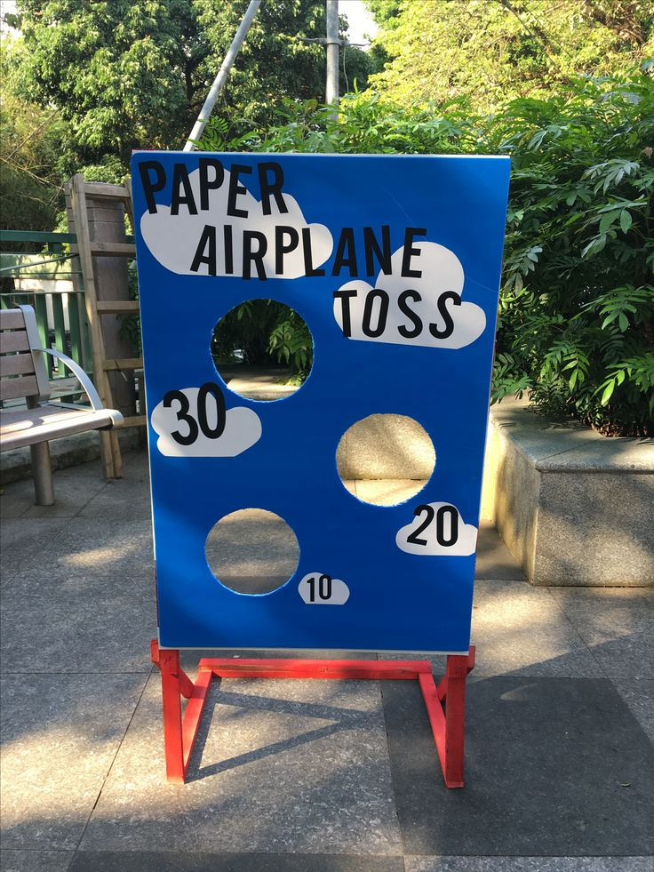 Paper Airplane Toss game board