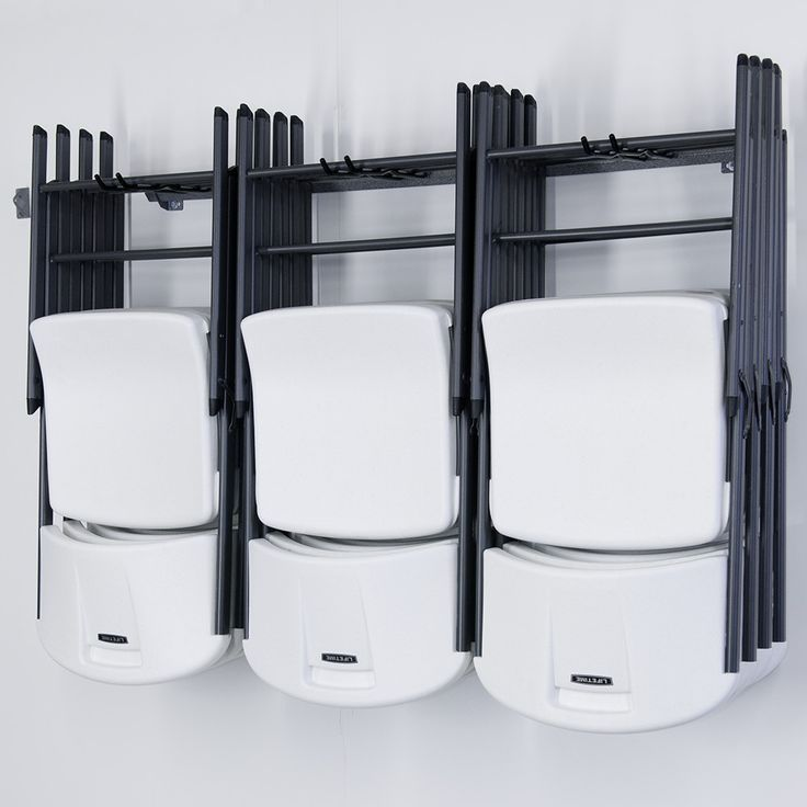 Features:  -Chair rack.  -Size: Large.  -Manufacturer provides limited lifetime warranty.  -Location: Wall Mount.  Product Type: -Storage Racks.  Wall Mountable: -Yes. Dimensions:  -Uses 4 screws to m