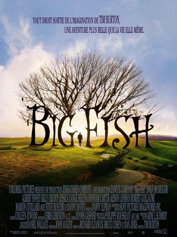 Big Fish est un film de Tim Burton de 2003 avec Ewan McGregor, Albert Finney. Synopsis : L'histoire à la fois drôle et poignante d'Edward Bloom, un père débordant d'imagination, et de son fils William.