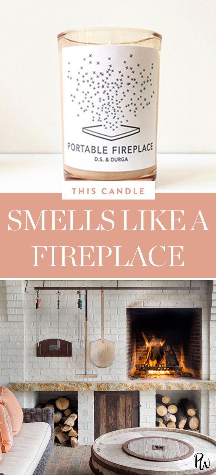 This Candle Makes It Smell Like You Have A Fireplaceeven If You