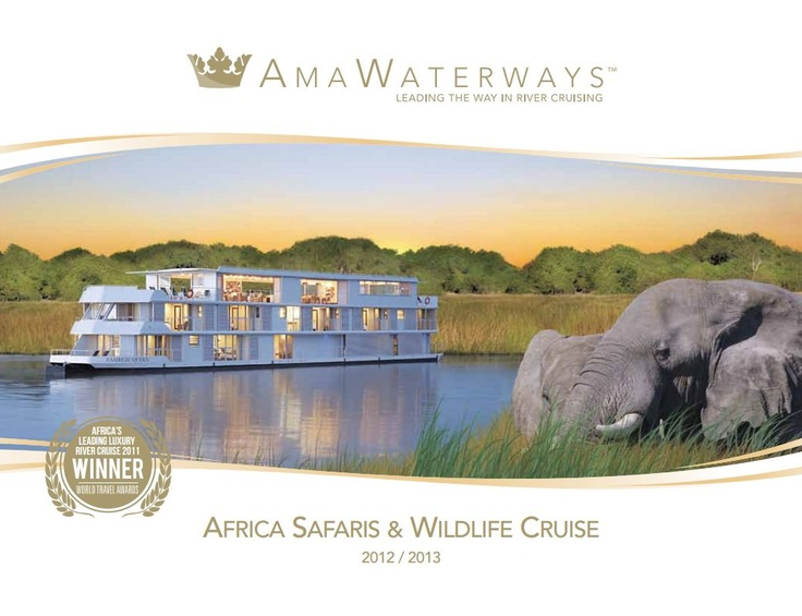 Peaceful and scenic, river cruising offers a smooth, gentle ride along the world's most remarkable waterways. Supreme comfort and convenience make it the premier way to experience magnificent cities, historic villages and little-seen enclaves.  #Africa #wildlife #Animals #Cruise #River Cruising #AMA Waterways