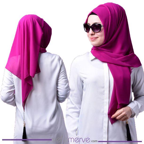 Farklı Renk Modelleri ile Püsküllü Şifon Şal #sefamerve #tesetturgiyim #tesettur #hijab #tesettür