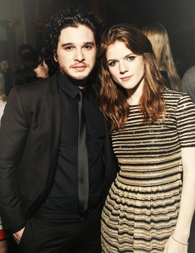 Kit Harington and Rose Leslie at the San Francisco 'Game of Thrones'premiere