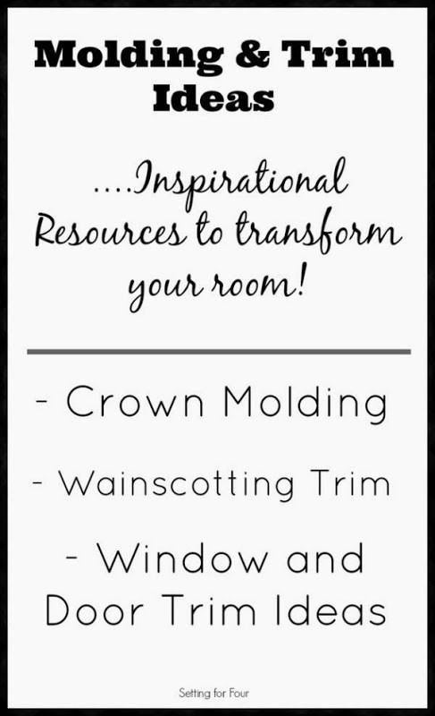 Molding and Trim ideas - inspiration to add architecture and interest to your home with wall and door trim and molding.