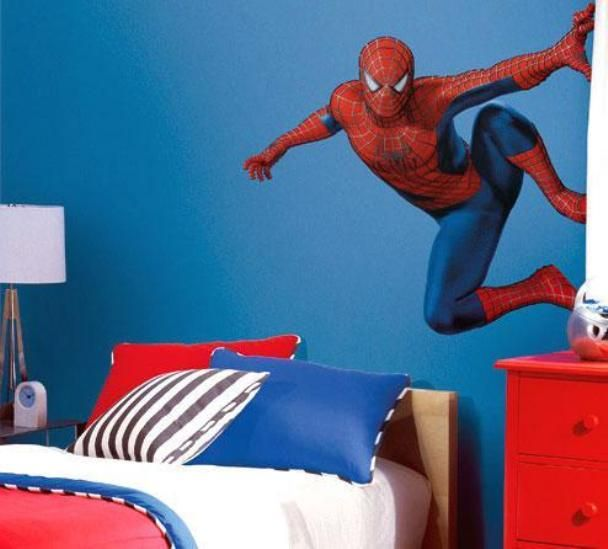 Kids Bedroom Colors For Boys Baby Bedroom Boy Bedroom Bench Ideas Modern Bedroom Black: Kids Bedroom With Spiderman Themes