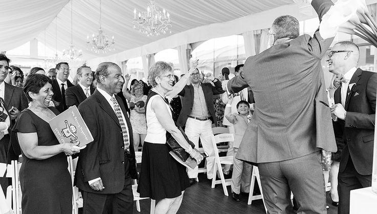 Sean & Riian's outdoor wedding ceremony at #Malaparte #Toronto #OutdoorWedding #WeddingCeremony #Wedding | Photo: taramcmullen.com/