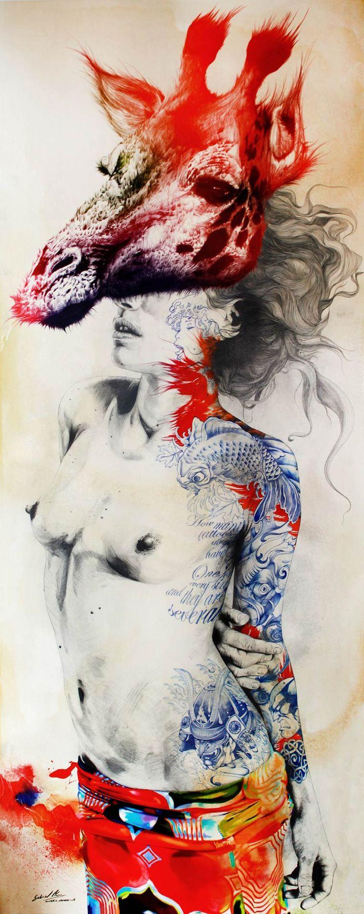 Une sélection des créations de l'illustrateur, artiste et graphic designer espagnol Gabriel Moreno, basé à Madrid, qui imagine des compositions colorées e