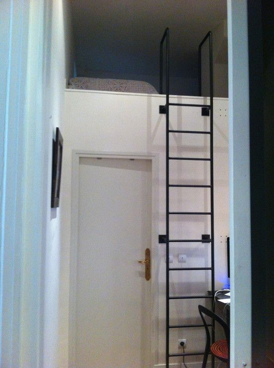 echelle de meunier contemporaine m tal noir d co pinterest mezzanine lofts and stair ladder. Black Bedroom Furniture Sets. Home Design Ideas