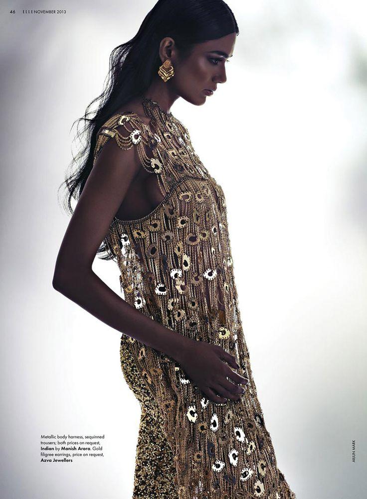 Pallavi Singh Shines in Bridal Fashions for Elle India by Arjun Mark