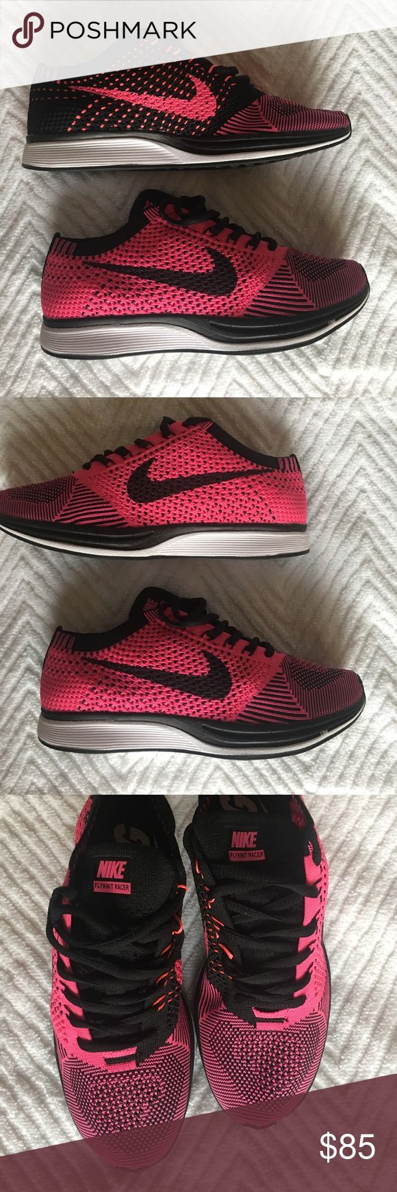 Nike Ladies Flyknit racer Sz 8 Nike Ladies Flyknit racer Sz 8 pink/black Nike Shoes Sneakers
