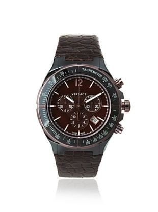 Versace Men's 28CCM6D598 S497 DV Cruise Gunmetal/Brown Tachymeter Watch