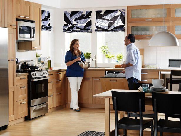 AKURUM/ÄDEL beech kitchen in Smart Budget from HGTV