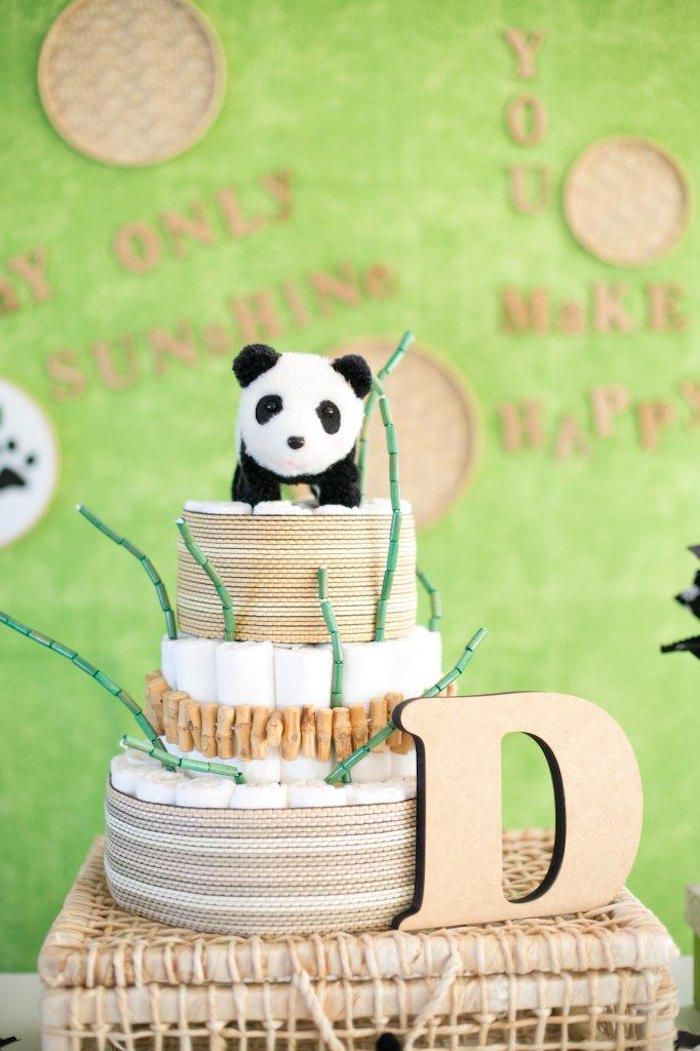 Best 25 panda themed party ideas on pinterest panda for Panda bear cake template