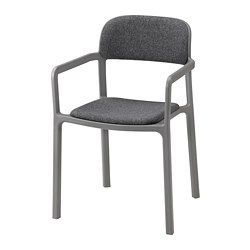 IKEA - YPPERLIG, Armchair, No assembly or screws to re-tighten, since the chair is molded in one piece.Durable and hard-wearing. Meets the requirements on furniture for public use.Lightweight, easy to lift and move.Easy to clean.The chair will look fresher and last longer, as the plastic is both fade resistant and UV stabilized to prevent cracking and drying out.Can be stacked to save space when stored.