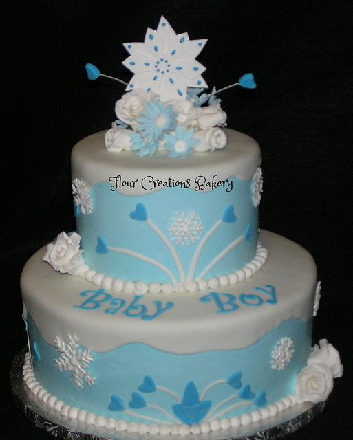 Winter Wonderland Baby Shower Cake | Flickr   Photo Sharing!
