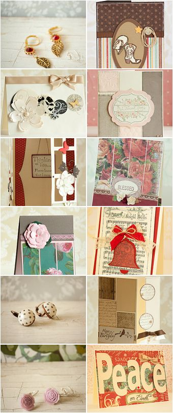 Unique handmade cards and jewelry