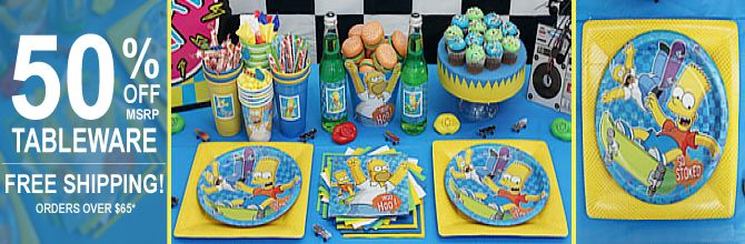 Simpsons Party Supplies