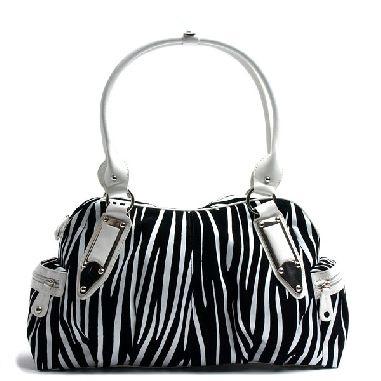 Black & White Zebra Print Handbag