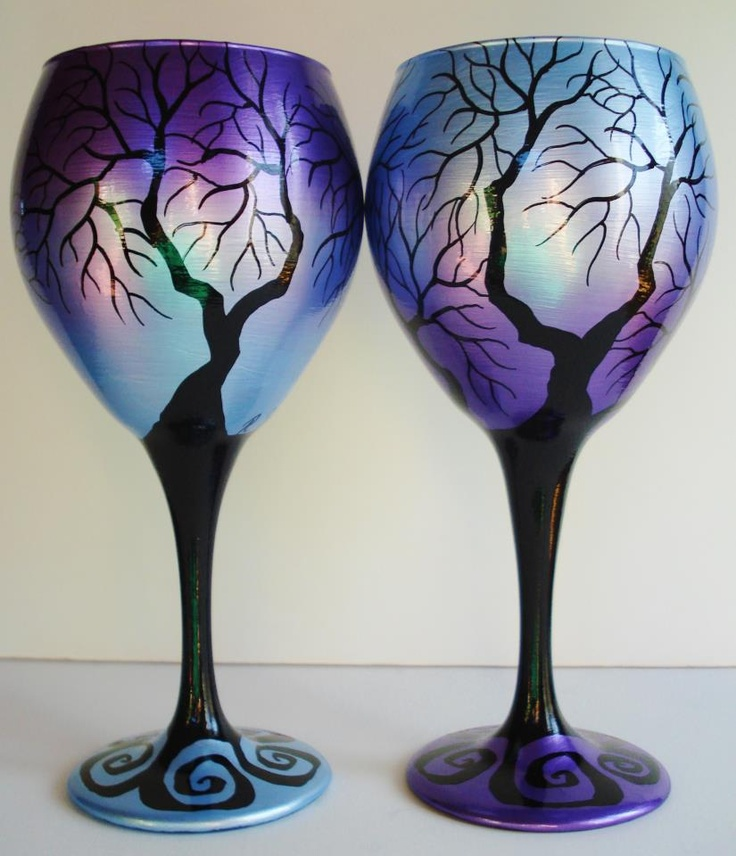 17 best images about wine glasses on pinterest cobalt for Diy painted wine glasses