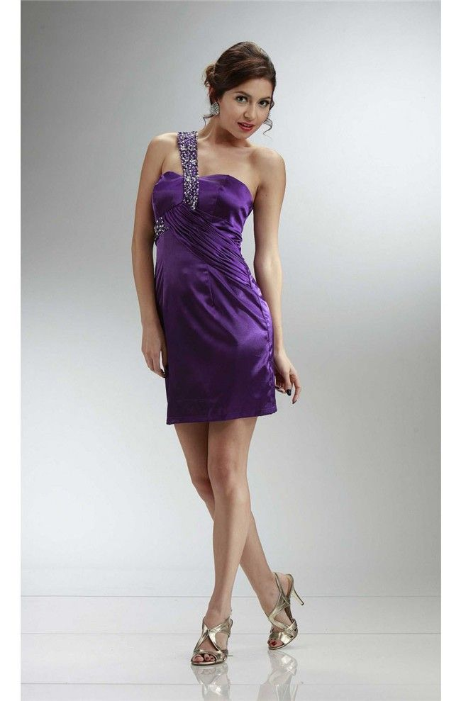 Purple Cocktail Prom Dress