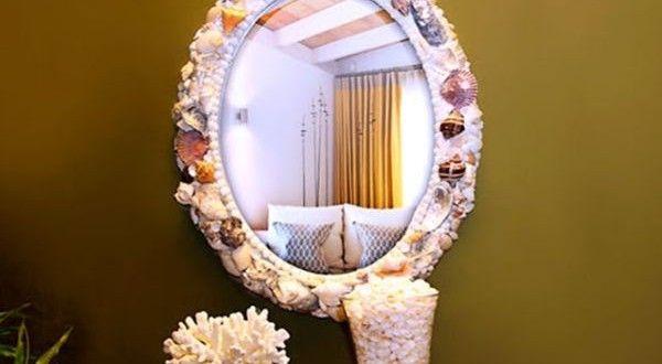 Moldura de Espelho com Conchas Passo a Passo