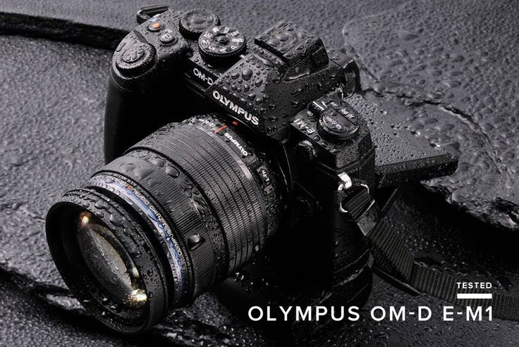 Olympus OM-D E-M1 - we tried this water test, and it passed with flying colors.