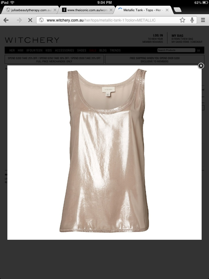 Witchery top - Metallic? Already have it in fuchsia but you can't have to many surely.