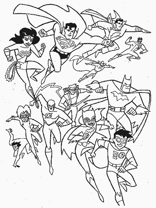 superhero free coloring pages - photo#44