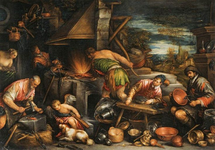 The Forge of Vulcan - Francesco Bassano