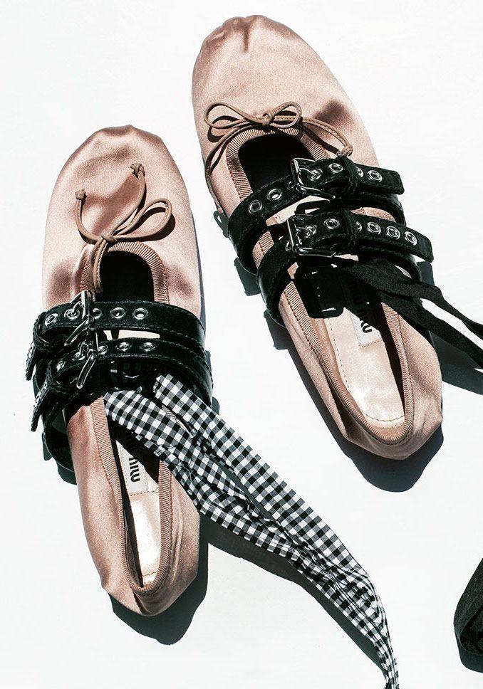 Miu Miu Slipper / Miu Miu, Ballet Slipper / Garance Doré  Dieses Produkt und weitere MIU MIU Taschen jetzt auf www.designertaschen-shops.de/brands/miu-miu entdecken