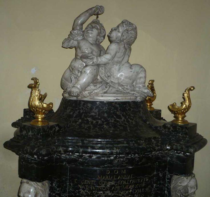 Grab oder Gedenkstein von Maria Anna Franziska Kolowrath-Krakowski, Gräfin Brühl in der Kapuzinerkirche Warschau