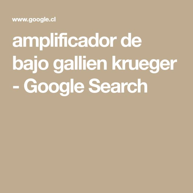 amplificador de bajo gallien krueger - Google Search