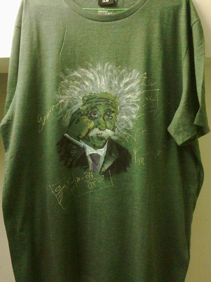 """Imagination is more important than knowledge."" -Albert Einstein hand painted t-shirt"