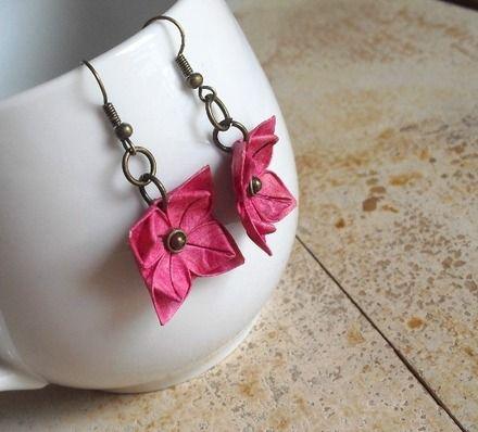 Boucles d'oreille - des fleurs de Japon n°2 : Boucles d'oreille par amelia-pond