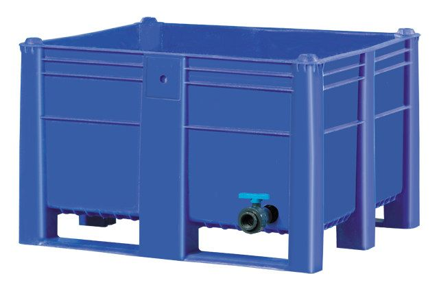 Plastic Bulk Container - best plastic box in Indonesia, Solid, HDPE, ISO 1200x1000, B2GD1210CSDV