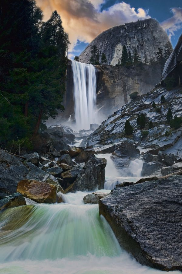 Vernal Falls, Yosemite National Park; photo by Mark Lissick