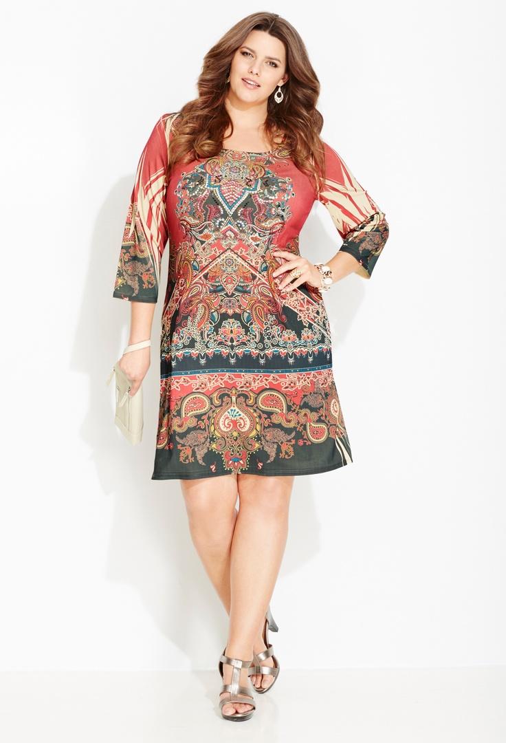 Plus Size Statement Print Sheath Dress   Plus Size New Arrivals   Avenue