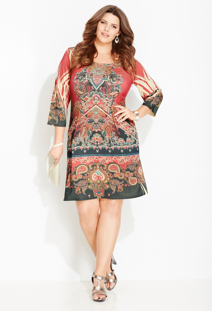 Plus Size Statement Print Sheath Dress | Plus Size New Arrivals | Avenue