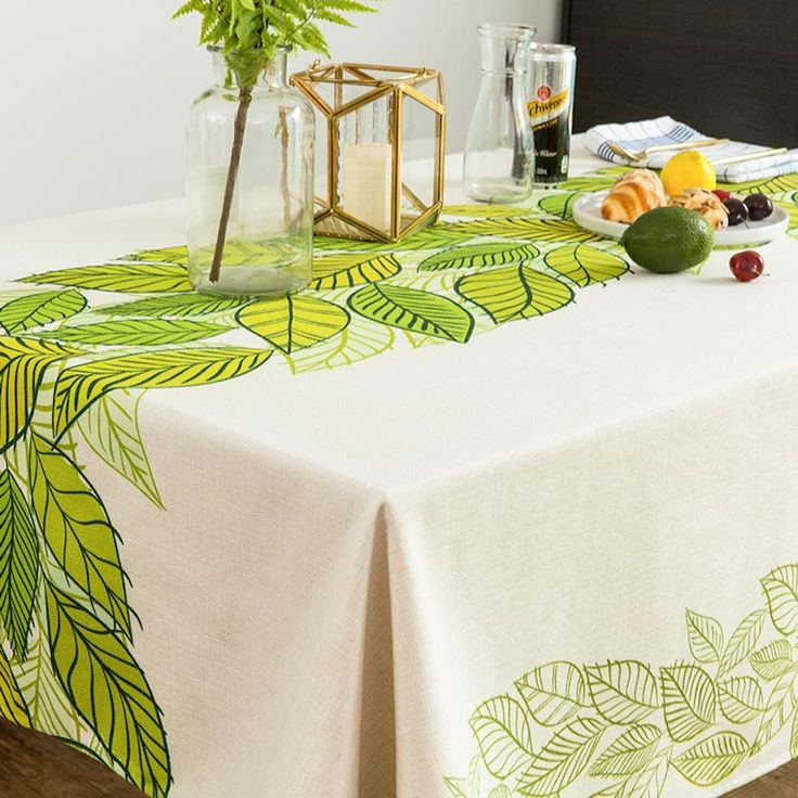 Spring Leaves Indoor / Outdoor Tablecloth