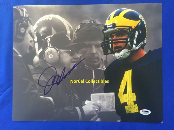 JIM HARBAUGH SIGNED 11X14 PHOTO MICHIGAN WOLVERINES BO SCHEMBECHLER PSA/DNA 1 | eBay
