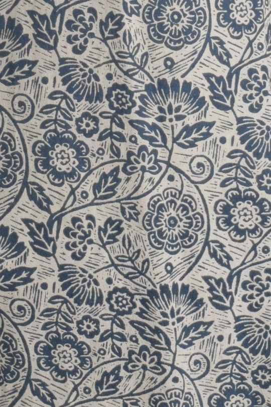 Our unique 'Lino Flower Driftwood' print for SS15