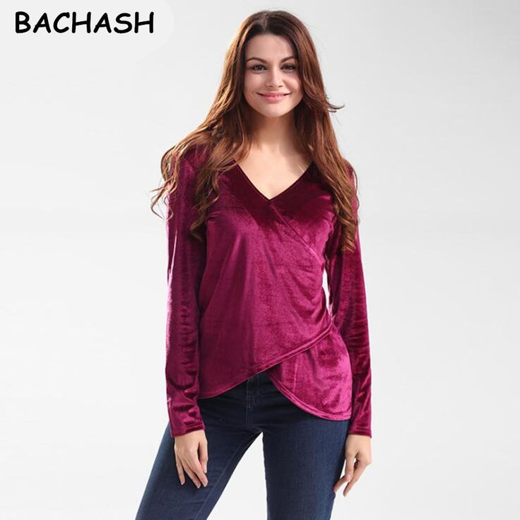 BACHASH 2017 Spring Comfortable Velvet Pullovers Loose Hoodies Sweatshirt Women New Fashion Clothing Red Solid Winter Clothing #Affiliate