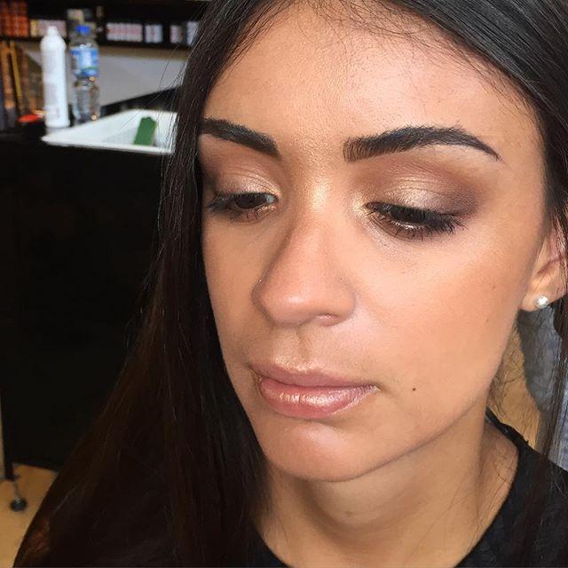 ..makeup for today's @sachajuan_anz event...#highlight #bronze #sunkissed #skin #makeup #nofliter