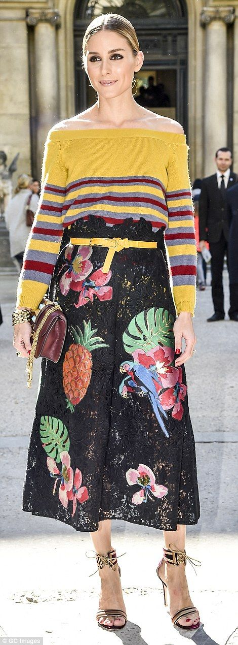 Olivia Palermo innValentino Resort 2017 at Valentino Spring 2017 PFW show on October 2, 2016