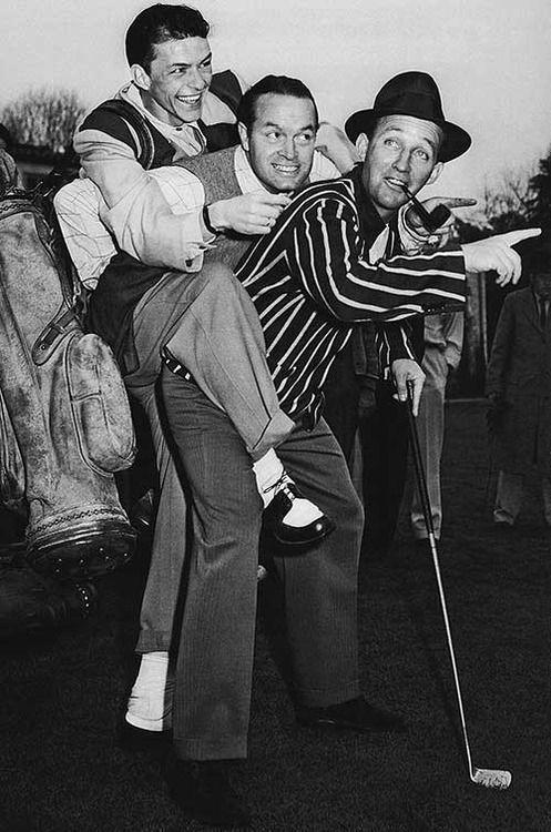 Frank Sinatra, Bob Hope, and Bing Crosby #celebrity #fhoto