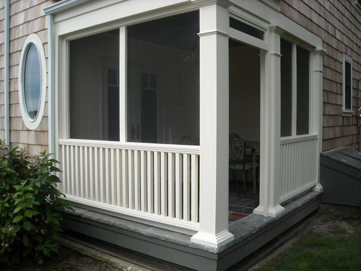 small screen porch - would love this at the back of the house.