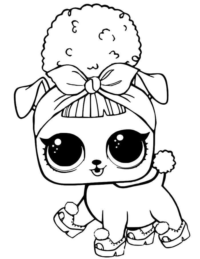 Little Sisters Lol Coloring Pages Pets